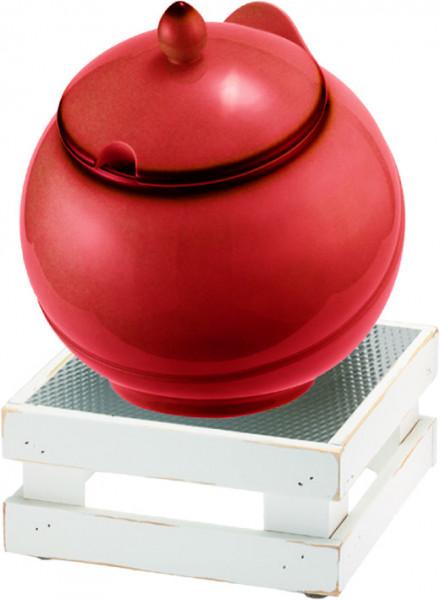 RAISER Buffet Bowl Maxi '23x23' rot M-Standfuß 'Vintage