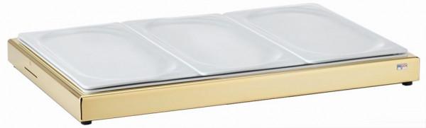 UNISON Frischeplatte 'GN' mit drei 1/3 GN-Porzellanplatten