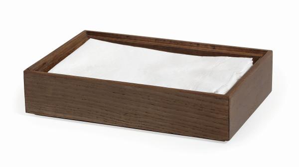 Stapelbare Holzkisten 'Gray Ash' rechteckig - 15 x 23 x 5 c