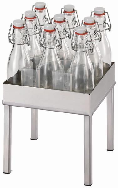RAISER Getränke-Set '23x23' L-Standfuß 'Stainless Steel'