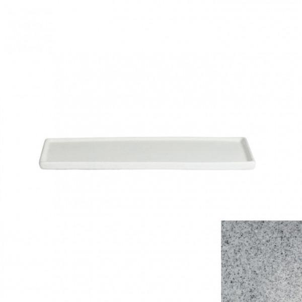 Platte mit Rand, rechteckig grau - 25,9 x 16 x 1,0 cm