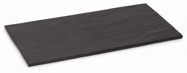 Melamin Servierboard, matt Schiefer-Design - 36 x 18 cm