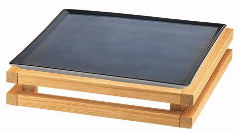 RAISER 'Frischeplatte 33x33' blau S-Standfuß 'Oak'