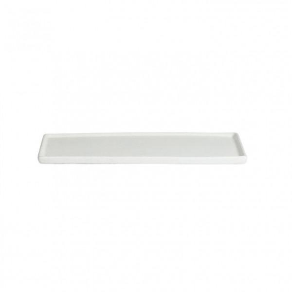 Platte mit Rand, rechteckig weiß - 25,9 x 16 x 1,0 cm
