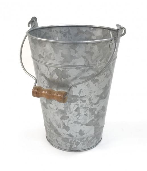 Kübel verzinkt, mit Henkel rund - Ø 20,3 x 27,9 cm
