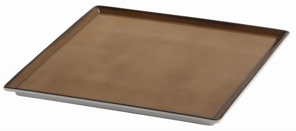 SPARE Platte/Schale '33x33' caramel Porzellanplatte 1/1