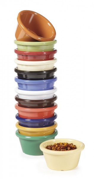 Melamin Saucen-Schälchen bunter Mix - 59 ml - Ø 7 cm