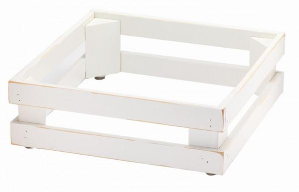 RAISER Standfuß '33x33 Vintage White' aus Holz mit weißem