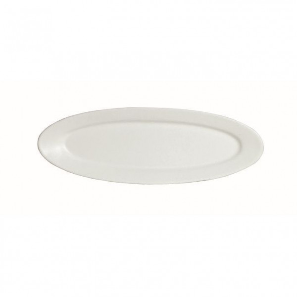 Fischplatte, oval weiß - 1,0 L - 20,5 x 60 x 3 cm