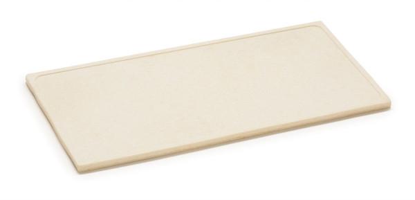 Melamin Servierboard, matt Granit-Design - weiß - 36 x 18 cm