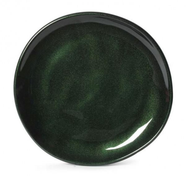 Melamin Teller, rund, ungleichförmig Cosmo™ grün - Ø 17,8 cm