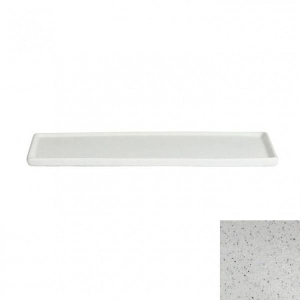 Platte mit Rand, rechteckig marmorweiß - 35,1 x 45 x 1,5 cm