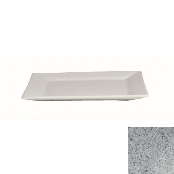 Platte flach, quadratisch grau - 32 x 32 x 2 cm