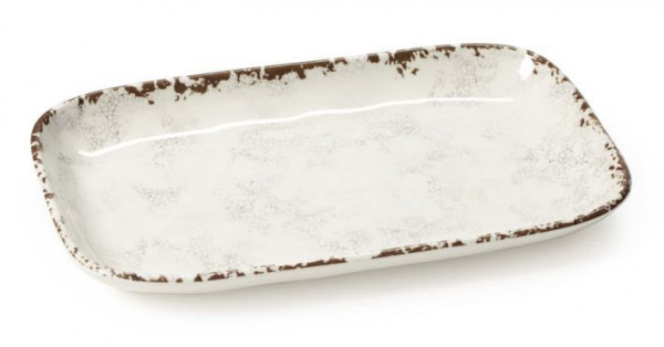 Melamin Platte, rechteckig, ungleichf. French Mill™ - 30,5 x