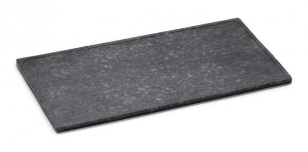 Melamin Servierboard, matt Granit-Design - schwarz - 36 x 18