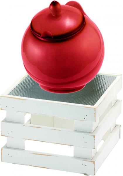 RAISER Buffet Bowl 'Med. 23 x 23' rot L-Standfuß 'Vintage