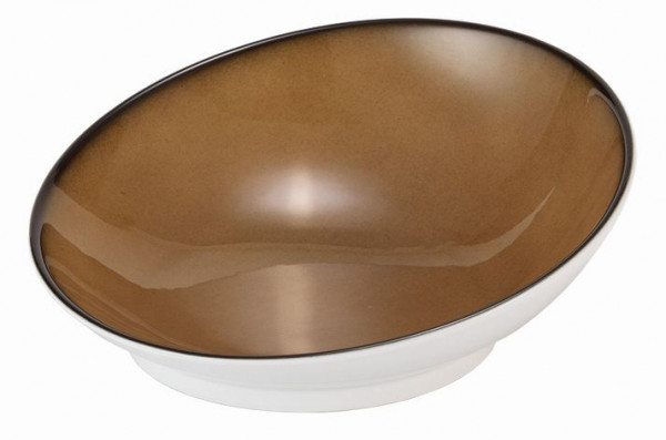 SPARE Platte/Schale - caramel 2,0 l - Porzellanschale Ø 280m
