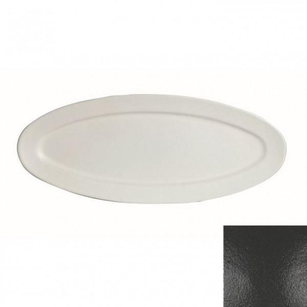 Fischplatte, oval schwarz - 1,5 L - 27,5 x 68 x 2,5 cm