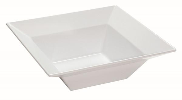 Melamin Schale, quadratisch Siciliano® - weiß - 3,6 l