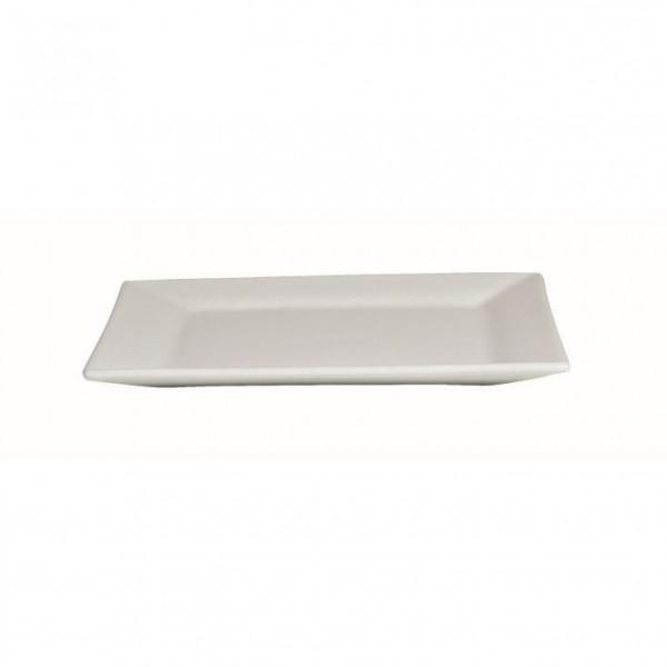 Platte flach, quadratisch weiß - 32 x 32 x 2 cm