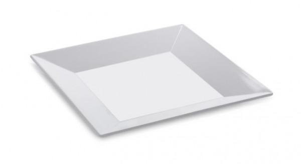 Melamin Platte, quadratisch Siciliano® - weiß - 15,2 x 15,2