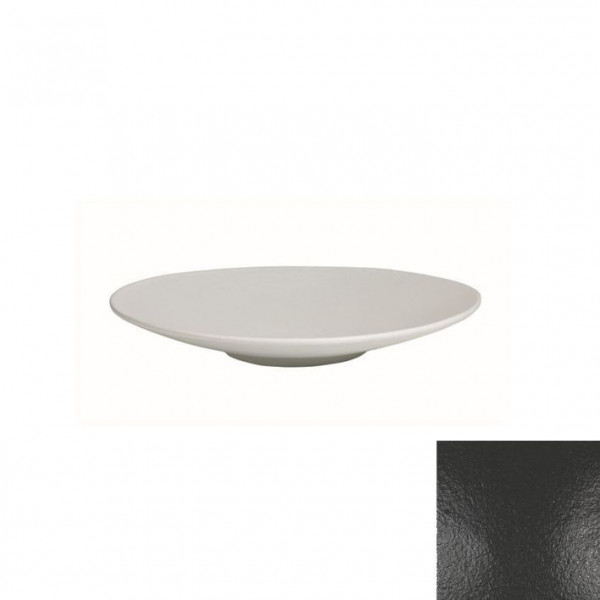 Wok flach, rund schwarz - 700 ml - Ø 31 x 3,5 cm