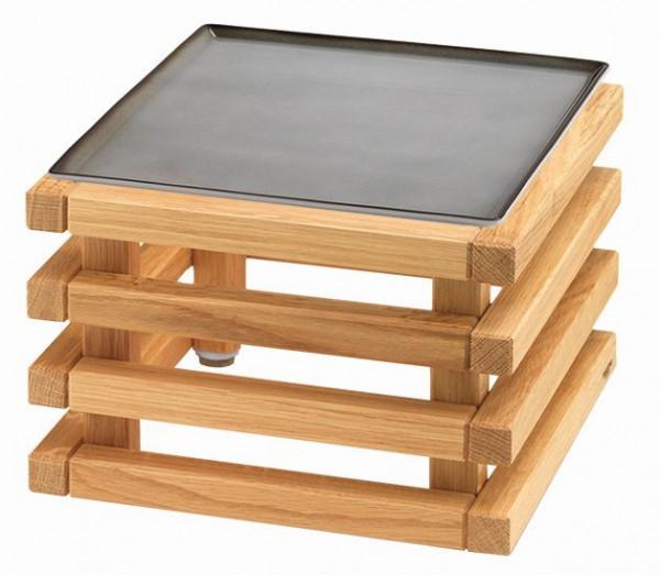 RAISER 'Frischeplatte 23x23' grau L-Standfuß 'Oak'