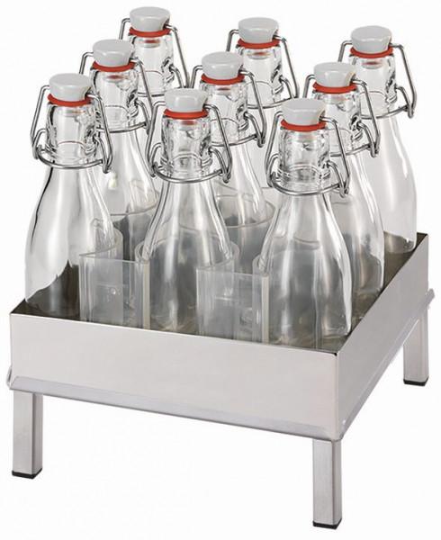 RAISER Getränke-Set '23x23' S-Standfuß 'Stainless Steel'