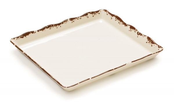 Melamin Tablett, rechteckig Tuscan™ - 35,6 x 29,2 cm