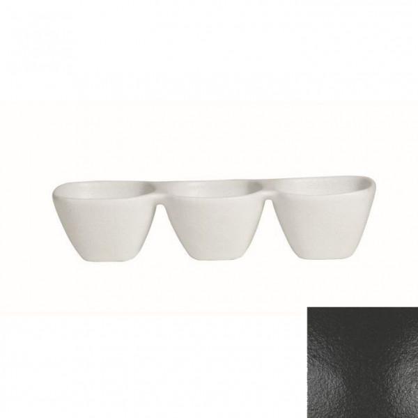Zutatenschälchen, 3er schwarz - 600 ml - 38,5 x 13,5 x 8 cm