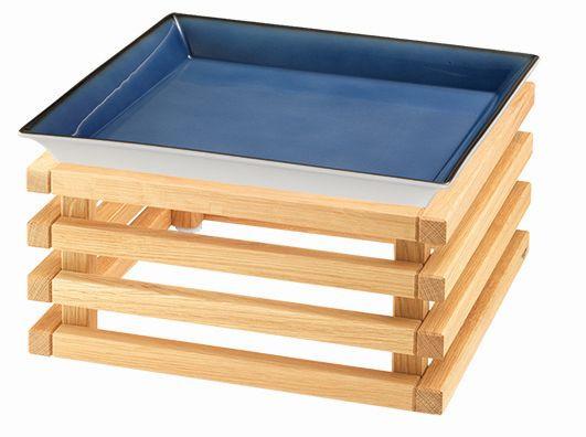 RAISER 'Frischeschale 33x33' blau 3,5 l - L-Standfuß 'Oak'