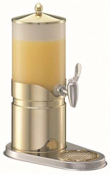 ELEGANCE Saftkanne 2,5 Liter, Modell Gold, Behälter (Opal-
