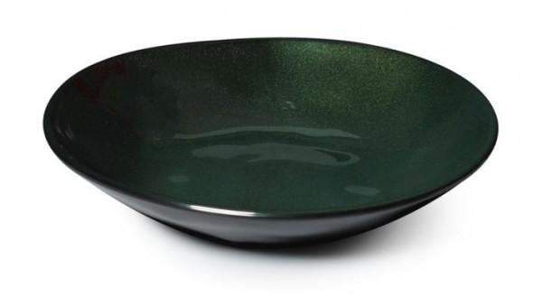 Melamin Schale, ungleichförmig, groß Cosmo™ - 1,2 L - grün