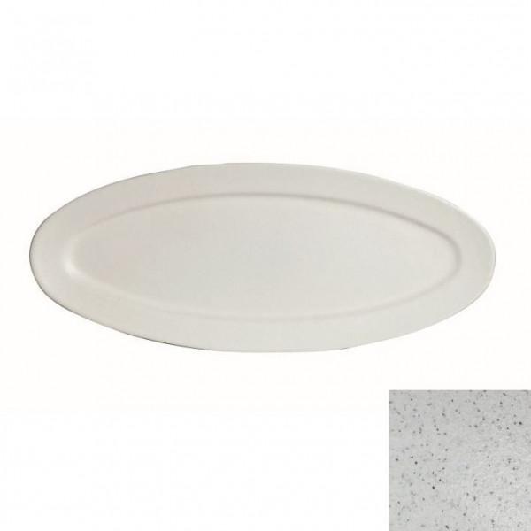 Fischplatte, oval marmorweiß - 1,5 L - 27,5 x 68 x 2,5 cm