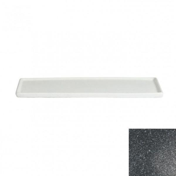 Platte mit Rand, rechteckig granitschwarz - 35,1 x 45 x 1,5