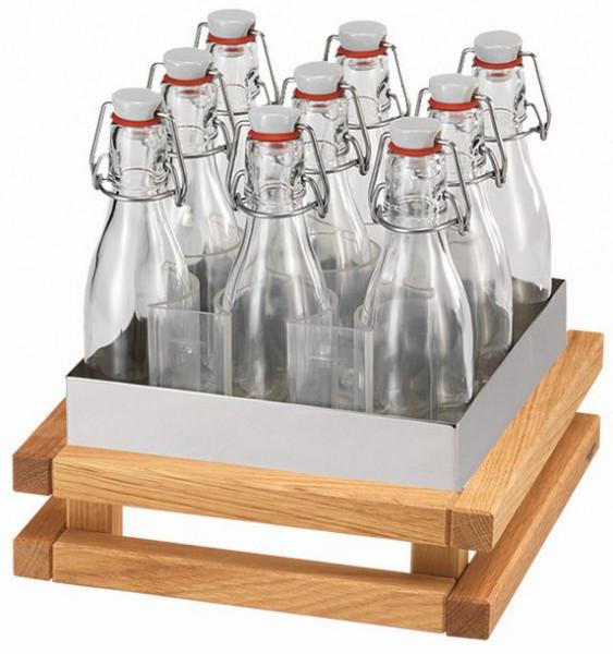 RAISER Getränke-Set '23x23' M-Standfuß 'Oak'