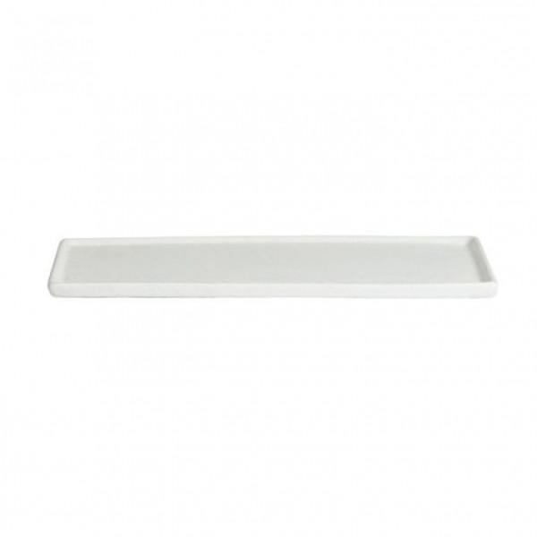 Platte mit Rand, rechteckig weiß - 35,1 x 45 x 1,5 cm