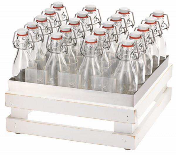 RAISER Getränke-Set '33x33' M-Standfuß 'Vintage White'