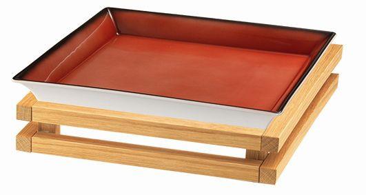 RAISER 'Frischeschale 33x33' rot 3,5 l - S-Standfuß 'Oak'