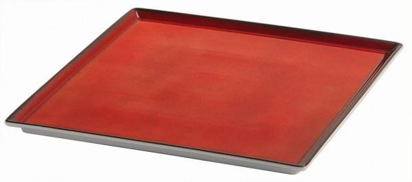 SPARE Platte/Schale '33x33' rot Porzellanplatte 1/1