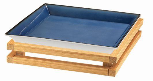 RAISER 'Frischeschale 33x33' blau 3,5 l - S-Standfuß 'Oak'