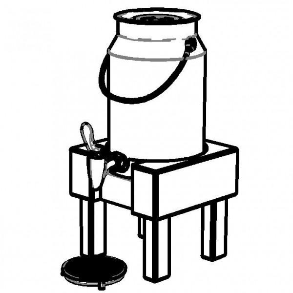 PURE NATURE Milchkanne 'Natural' 5 Liter, Buche (hell)