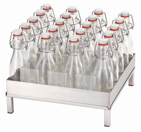RAISER Getränke-Set '33x33' S-Standfuß 'Stainless Steel'