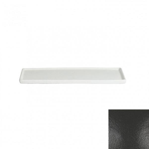 Platte mit Rand, rechteckig schwarz - 25,9 x 16 x 1,0 cm