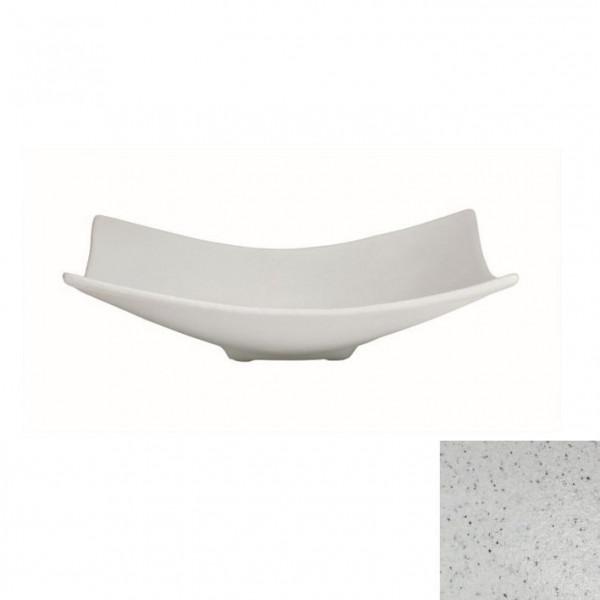 Obstschale L, quadratisch marmorweiß - 3 L - 39 x 39 x 11 cm