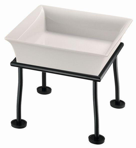 RAISER 'Frischeschale 23x23' weiß 2,5 l - L-Standfuß 'Black