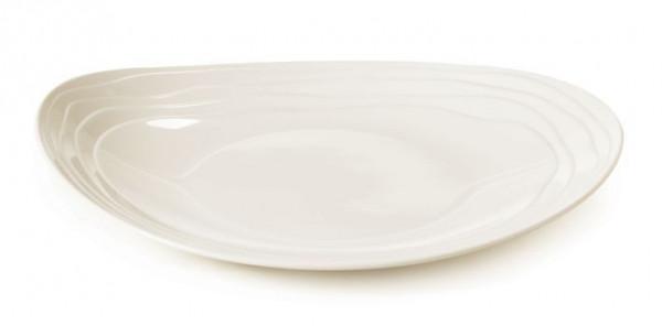 Melamin Platte, oval Magnolia™ - 31,8 x 26,7 cm