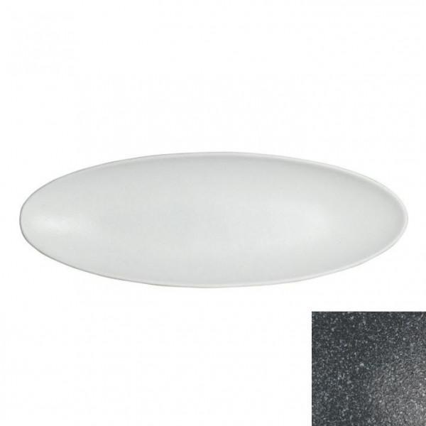Obstplatte, oval gran.schw. - 750 ml - 17,5 x 55 x 3,5 cm