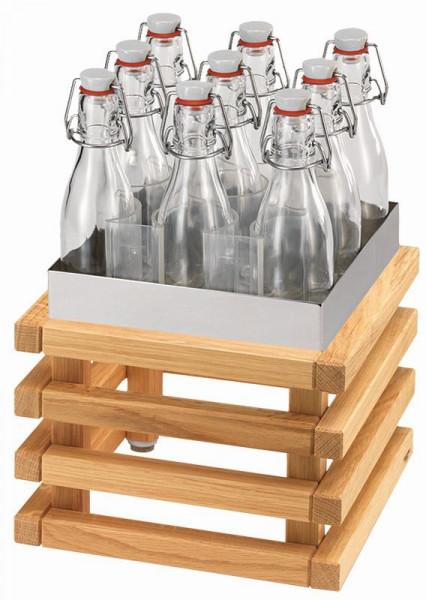 RAISER Getränke-Set ''23x23' L-Standfuß 'Oak'