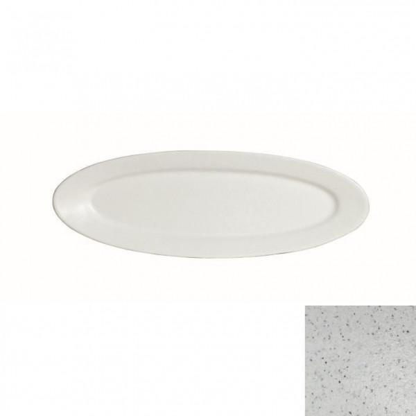 Fischplatte, oval marmorweiß - 1,0 L - 20,5 x 60 x 3 cm
